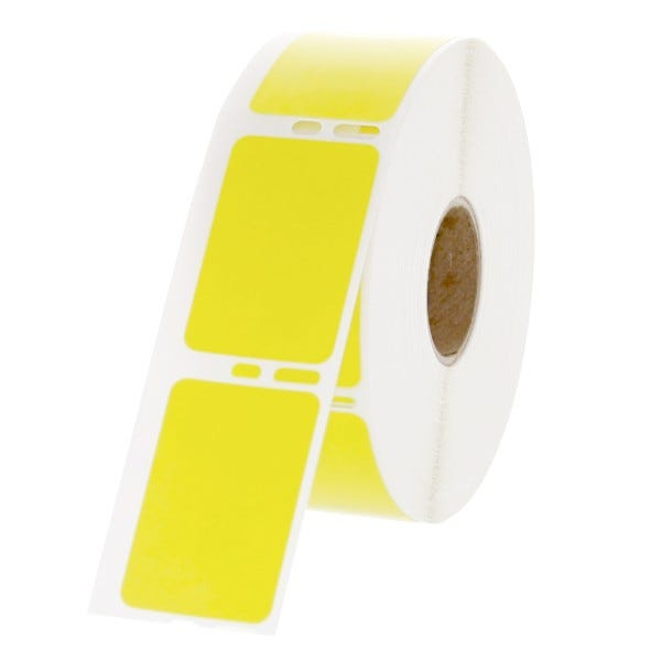 "Dymo Compatible LV-30347Y Yellow Labels 1"" x 1-1/2"""