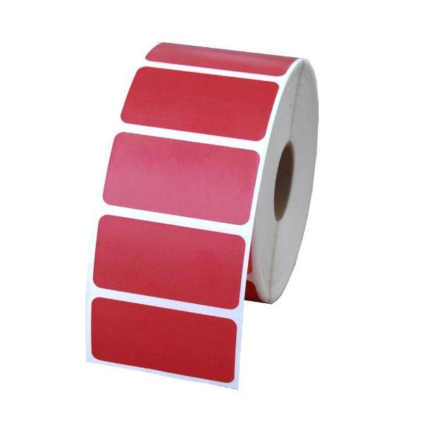 "Zebra 2"" x 1"" Red Labels - LV-56001Red"