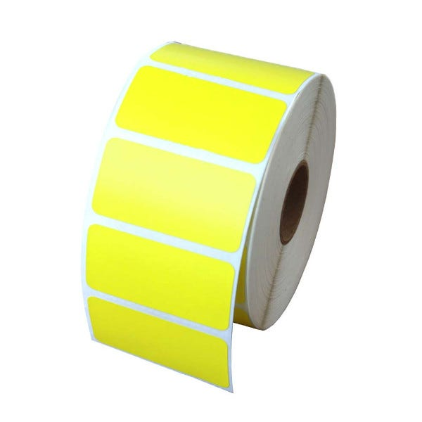 "Zebra 2"" x 1"" Yellow Labels - LV-56001Y"