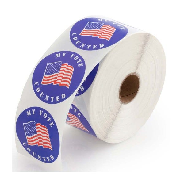 My Vote Counted Stickers