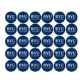 """Brigham Young University 1-1/2"""" Labels"""
