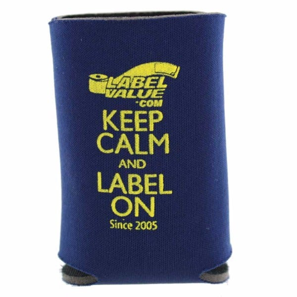 LabelValue.com Coozie - Keep Calm and Label On