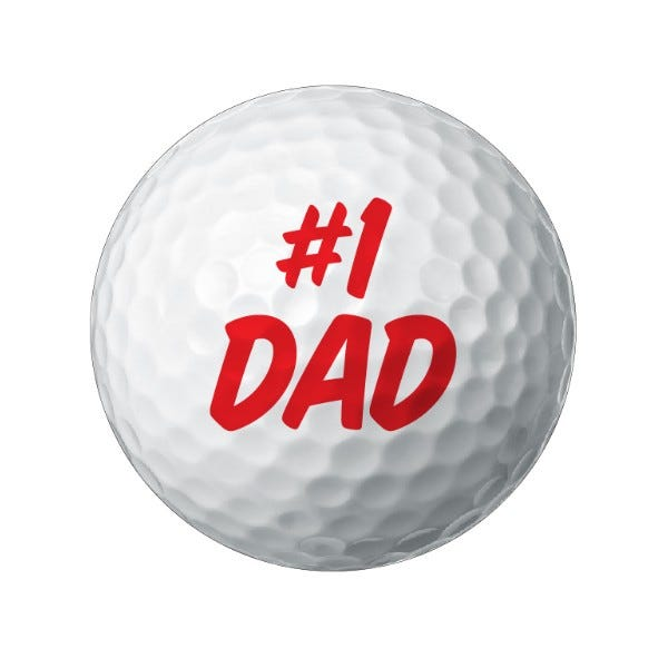 Father's Day Golf Ball Labels 1.5""