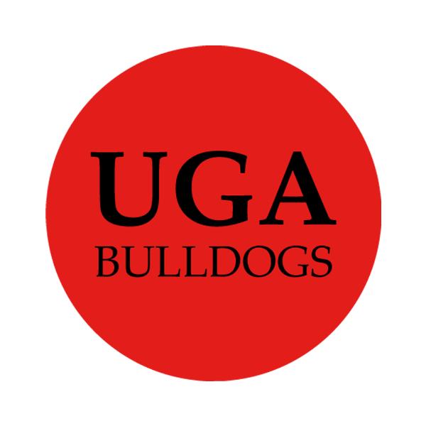 "University of Georgia 1-1/2"" Labels"