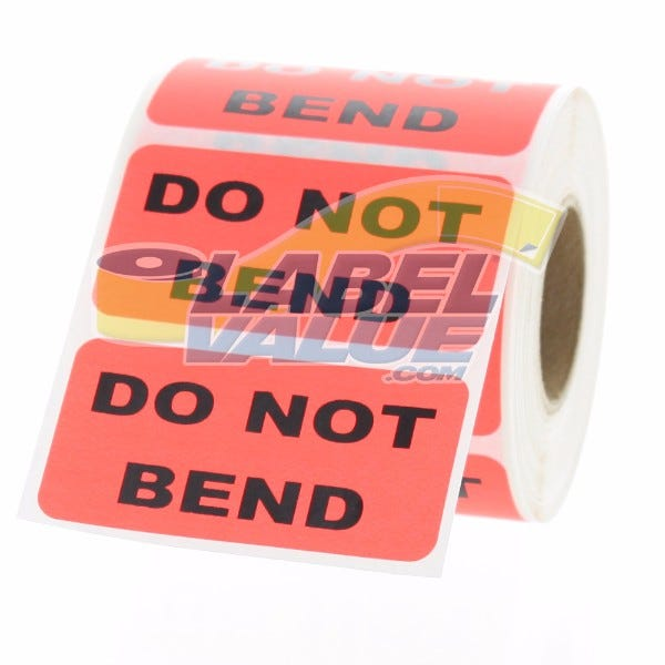 """DO NOT BEND Inventory Labels 2"""" x 1"""""""