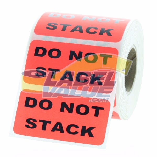"""DO NOT STACK Inventory Labels 2"""" x 1"""""""