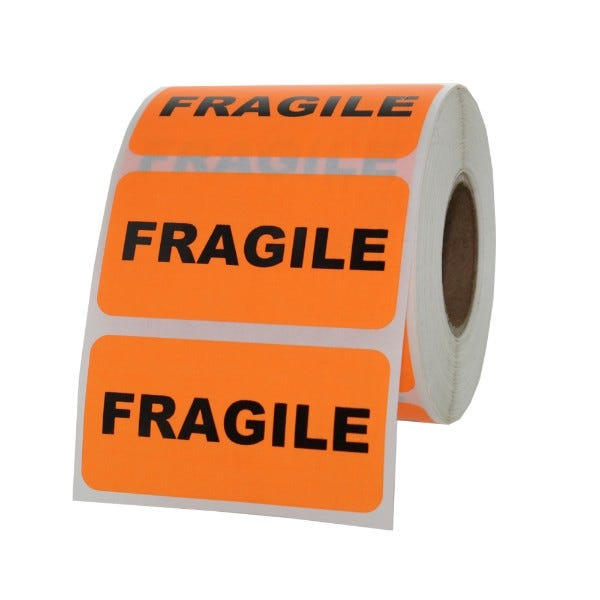 "Fragile Inventory Label 2"" x 1"""