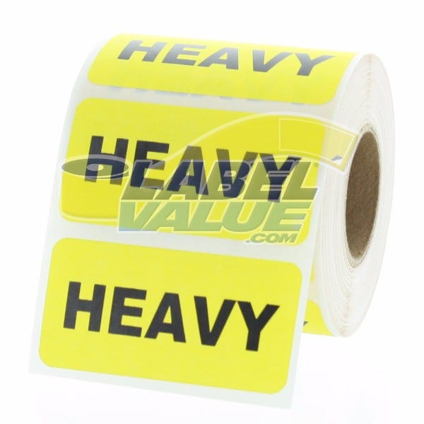 """HEAVY Inventory Labels 2"""" x 1"""""""