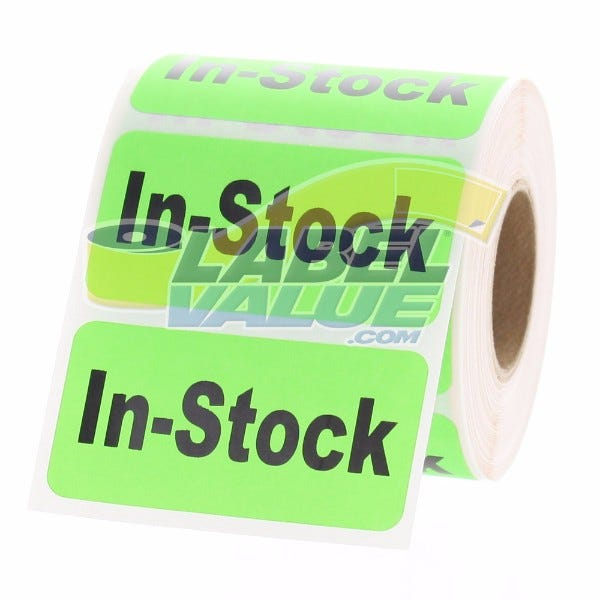 "In-Stock Inventory Labels 2"" x 1"""