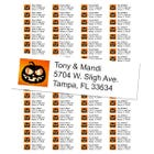 Jack O Lantern Pumpkin Halloween Return Address Labels