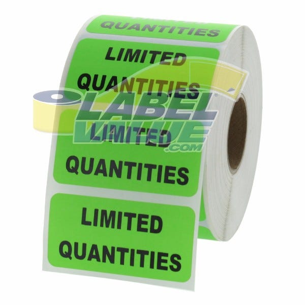 "LIMITED QUANTITIES Inventory Labels 2"" x 1"""