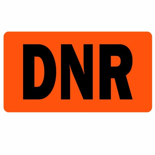 DNR Medical Healthcare Labels