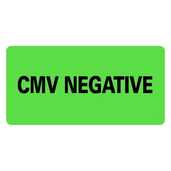 CMV NEGATIVE Medical Labels