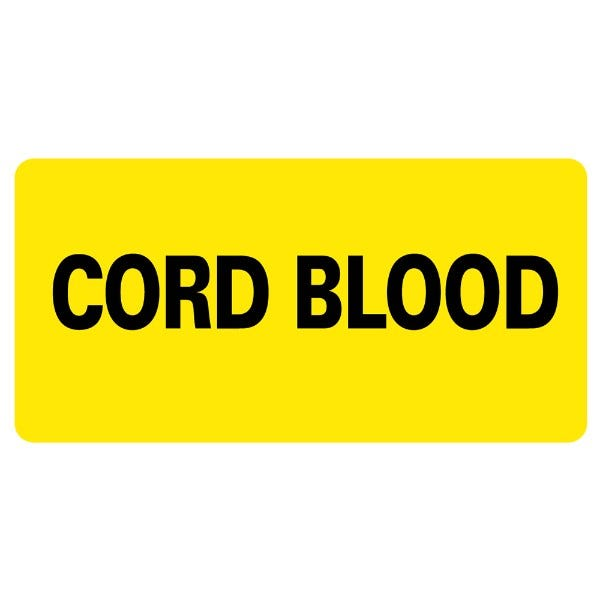 Cord Blood Medical Labels