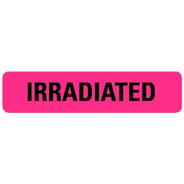 IRRADIATED Medical Labels
