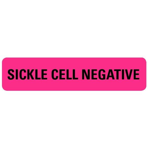SICKLE CELL NEGATIVE Medical Labels