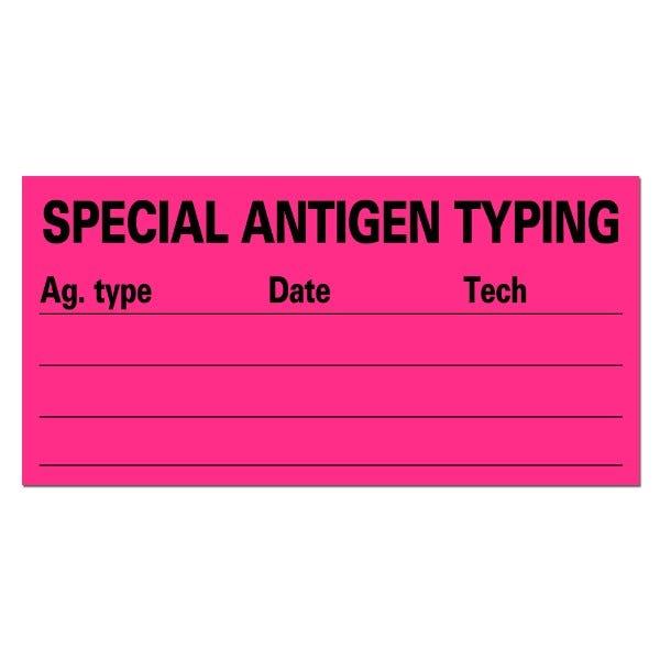 SPECIAL ANTIGEN TYPING Medical Labels