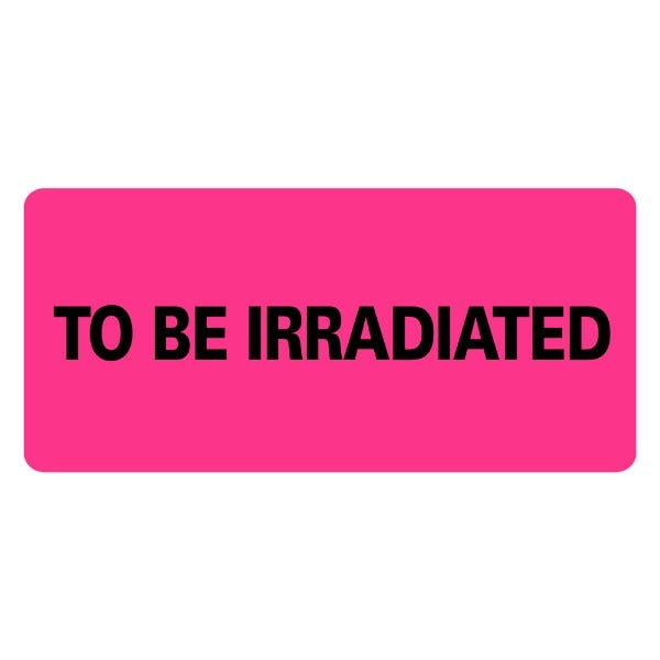 TO BE IRRADIATED Medical Labels
