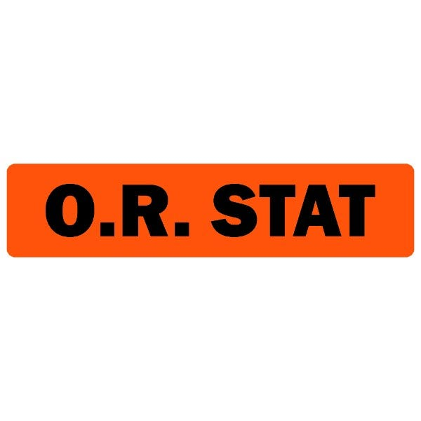 O.R. Stat Medical Labels