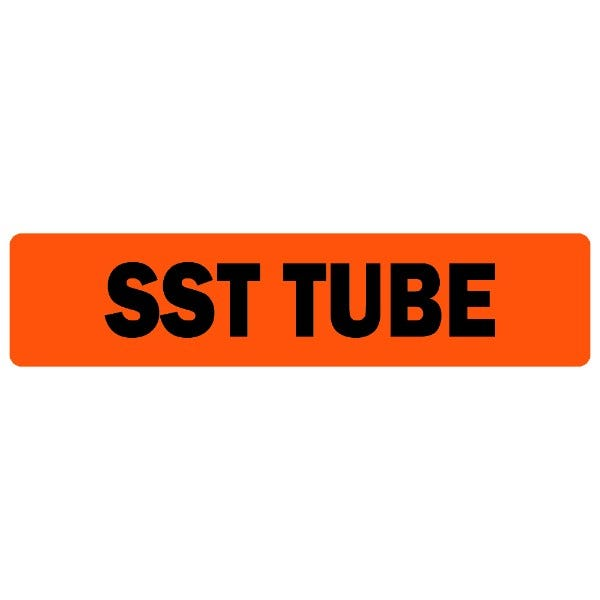 SST Tube Medical Labels