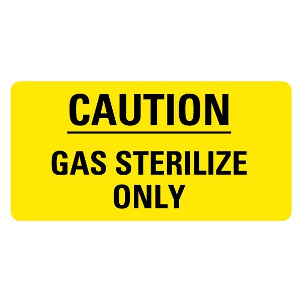 Caution Gas Sterilize Only Medical Labels
