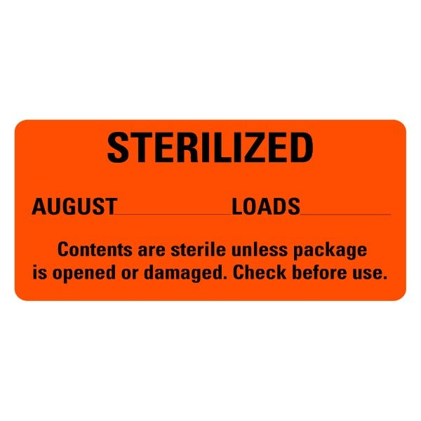 STERILIZED August Medical Labels