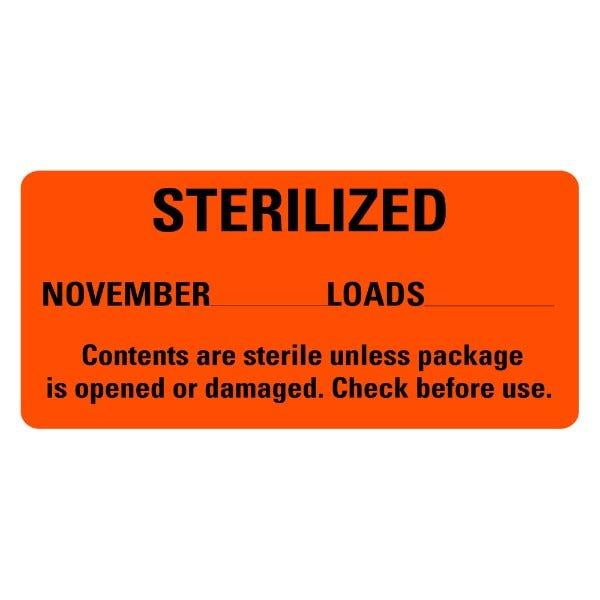 STERILIZED November Medical Labels
