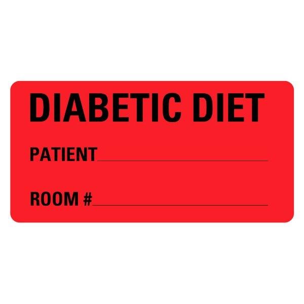 Diabetic Diet Food Service Medical Labels