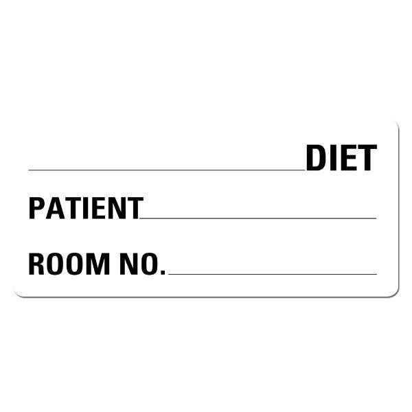 Diet Food Service Medical Labels