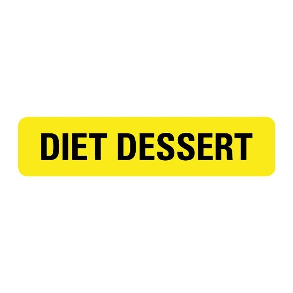 Diet Dessert Food Service Medical Labels