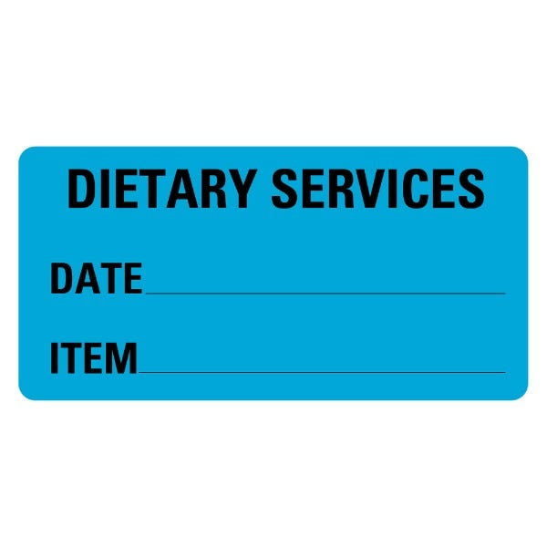 Dietary Services Food Service Medical Labels