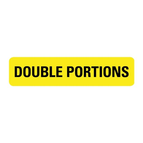 Double Portions Food Service Medical Labels