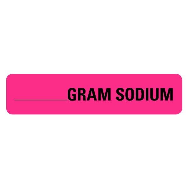 Gram Sodium Food Service Medical Labels