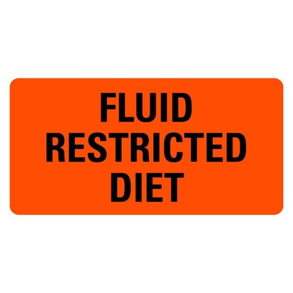 Fluid Restricted Diet Food Service Medical Labels
