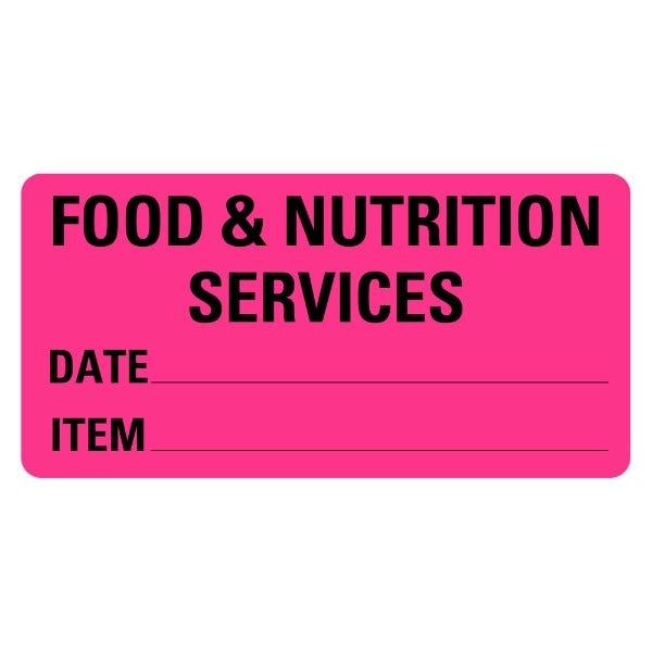 Food Nutrition Services Food Service Medical Labels