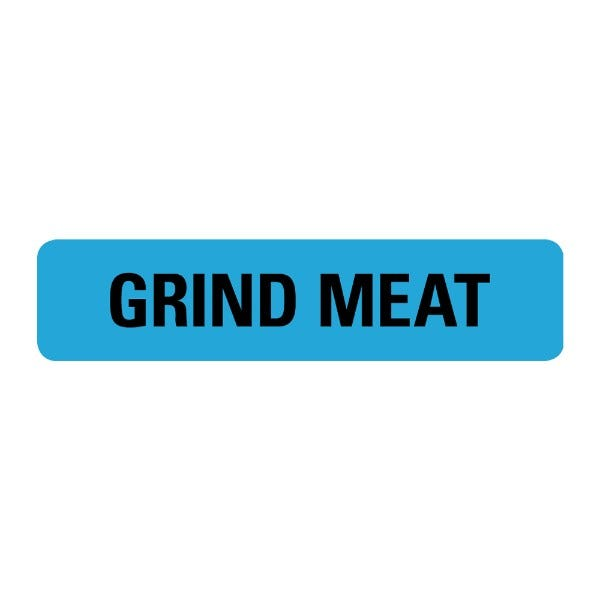 Grind Meat Food Service Medical Labels