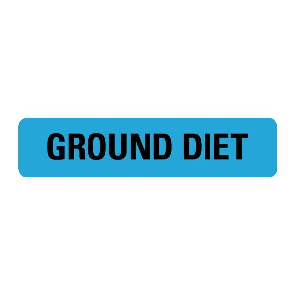 Ground Diet Food Service Medical Labels