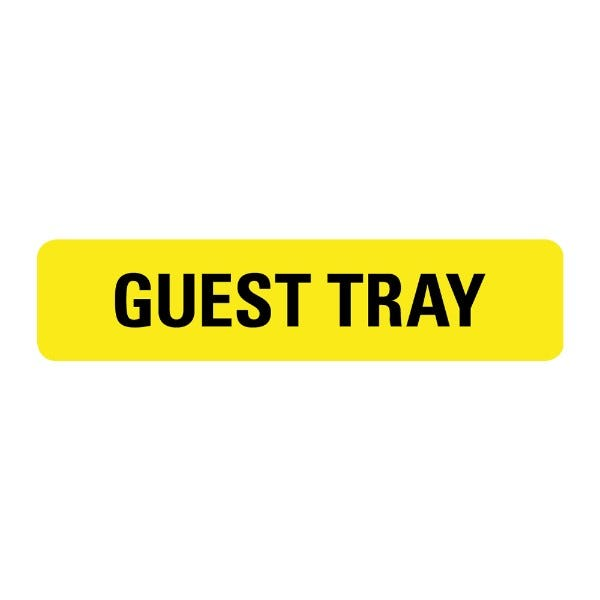 Guest Tray Food Service Medical Labels