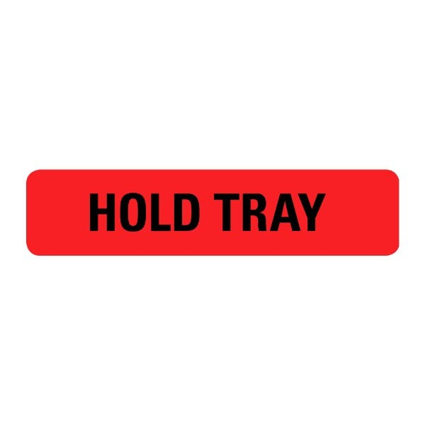 Hold Tray Food Service Medical Labels