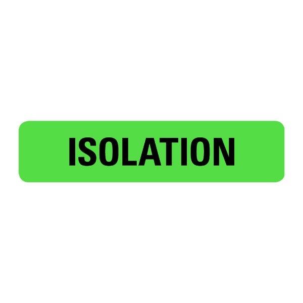 Isolation Food Service Medical Labels