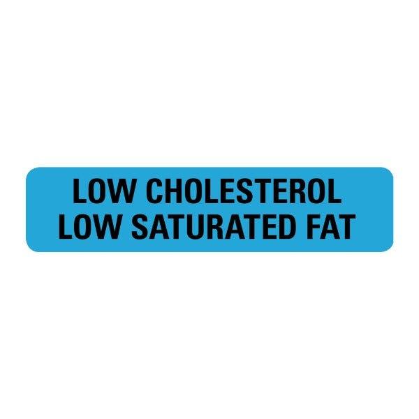 Low Cholesterol Low Saturated Food Service Medical Labels