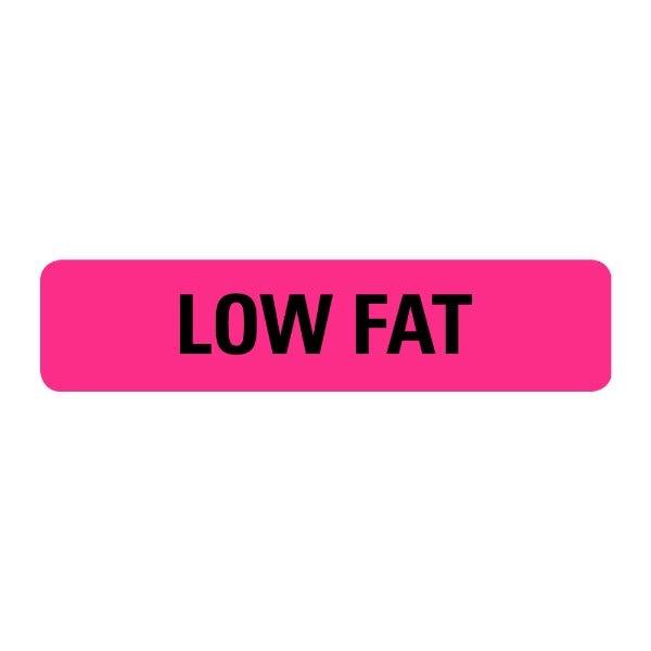 Low Fat Food Service Medical Labels