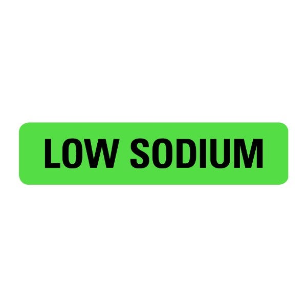 Low Sodium Food Service Medical Labels