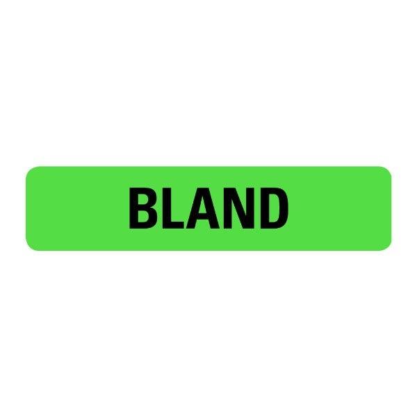 Bland Food Service Medical Labels