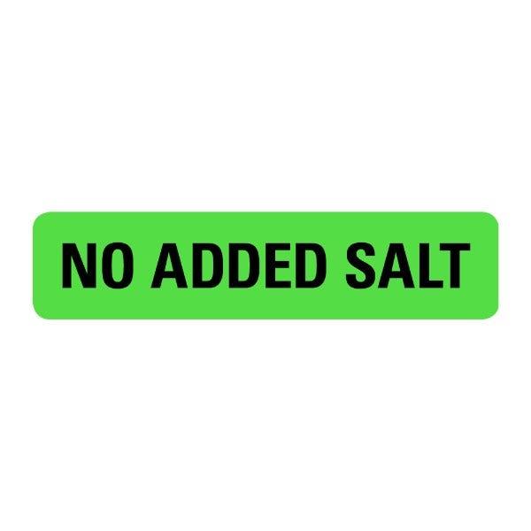 No Added Salt Food Service Medical Labels
