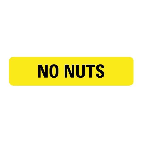 No Nut Food Service Medical Labels