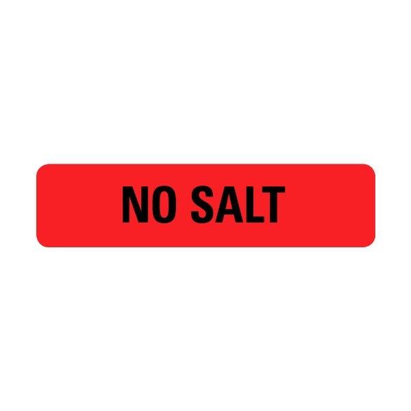 No Salt Food Service Medical Labels