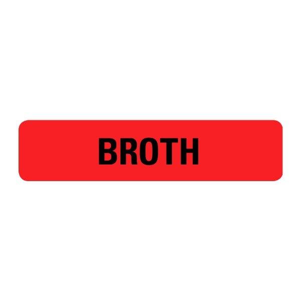 Broth Food Service Medical Labels