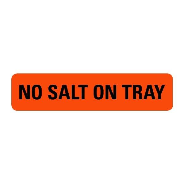 No Salt On Tray Food Service Medical Labels