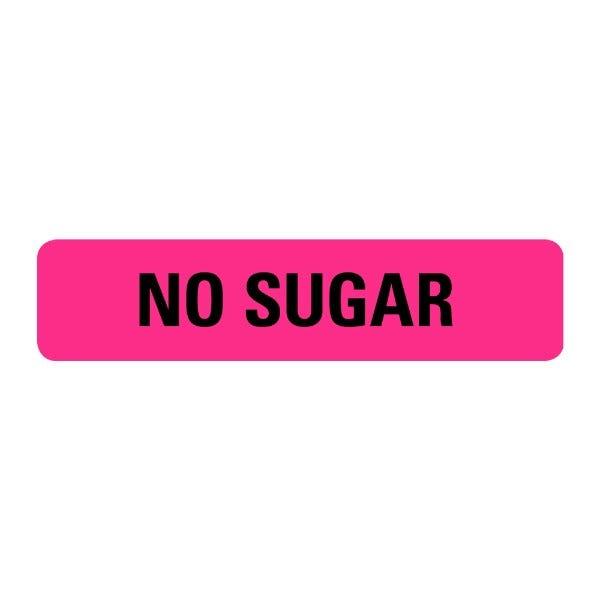 No Sugar Food Service Medical Labels